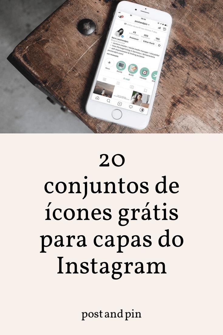 20 conjuntos de ícones grátis para as capas do Instagram