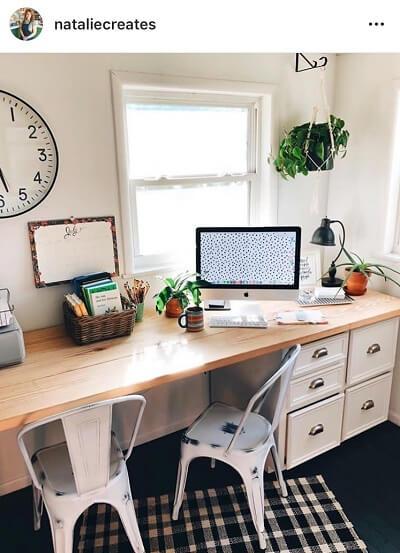 Ideias de publicações no Instagram para quando não tens nada para partilhar: o teu espaço de trabalho
