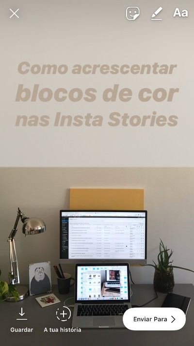 Truque: como adicionar blocos de cores nas Instagram Stories