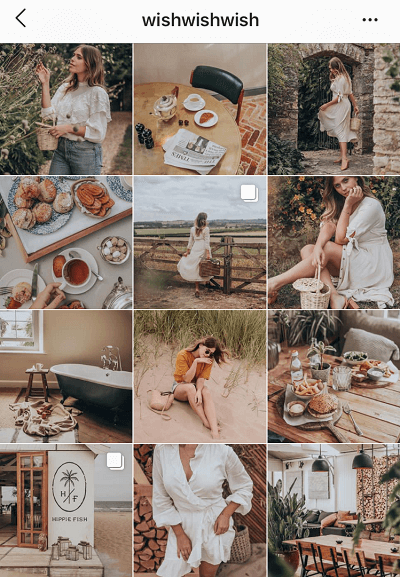 Feed do Instagram em Estilo Retro